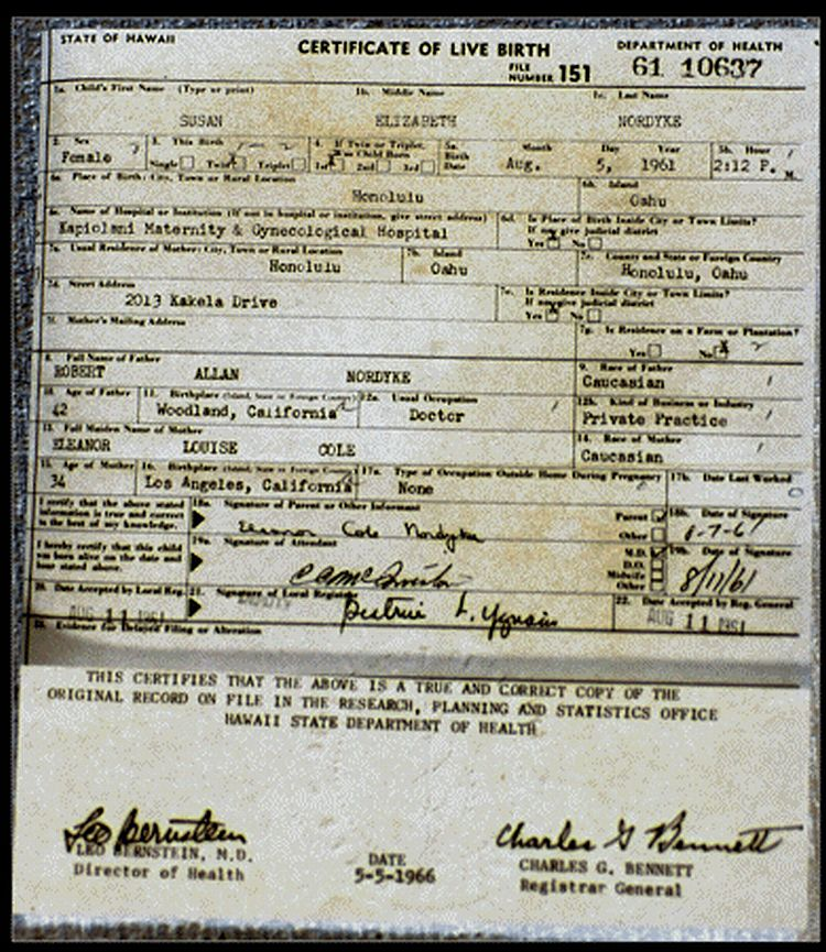 This Is A Hawaii Birth Certificate Longitude361
